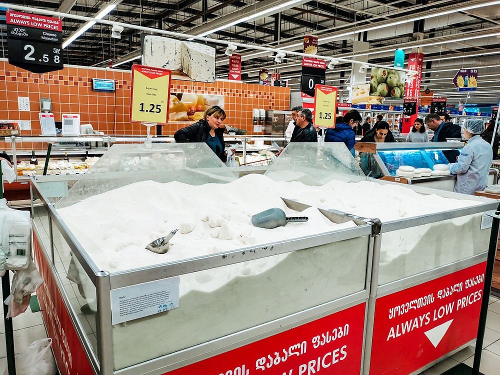 Groecery store Carrefour Tbilisi