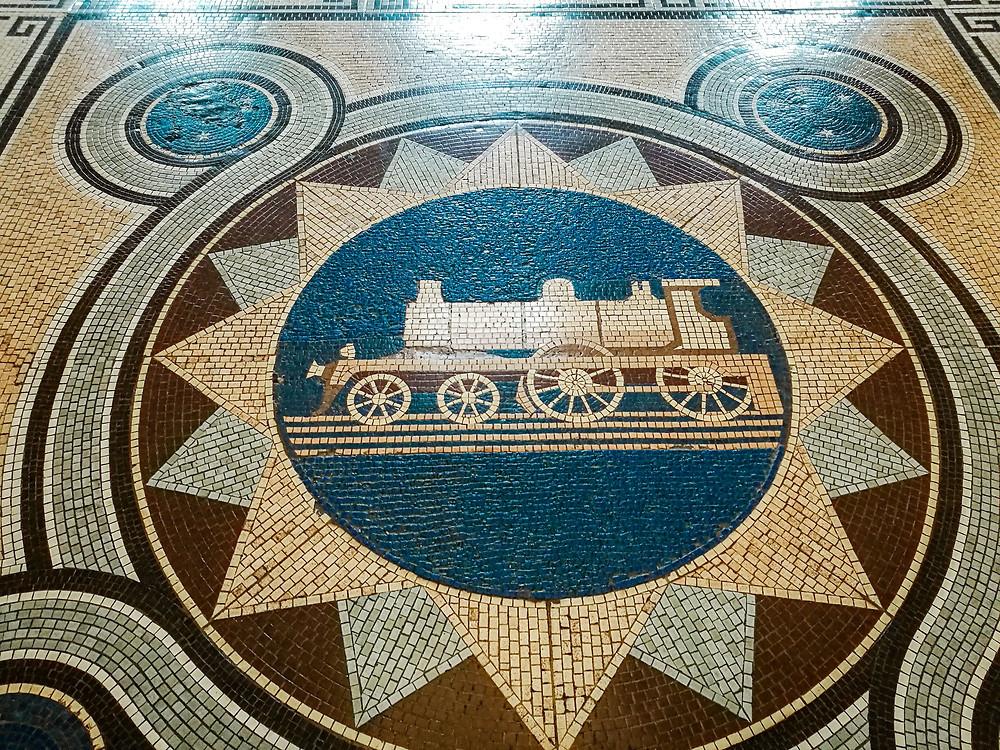 Dunedin Railway Station tile floor