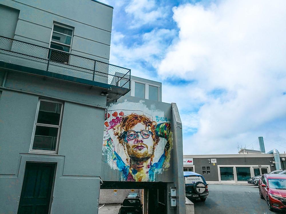 Ed Sheeran wall art Dunedin