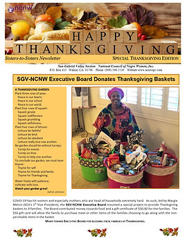 SGV-NCNW Newsletter Thanksgiving Edition