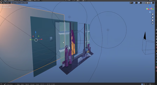 2D layers in Blender