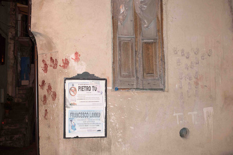 """The """"vattienti"""" leave bloody hand prints on selected walls around the village."""