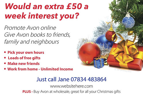 Christmas style A6 budget leaflet - Qty 5000
