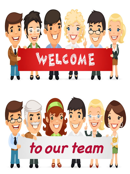 Welcome Card - People design Qty - 20
