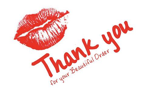 Thank You Card - Lip Stick Kiss design