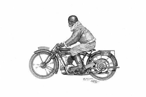 1924 Norton W/ Rider