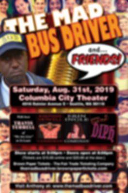 MAD BUS DRIVER & FRIENDS POSTER 12 X 18