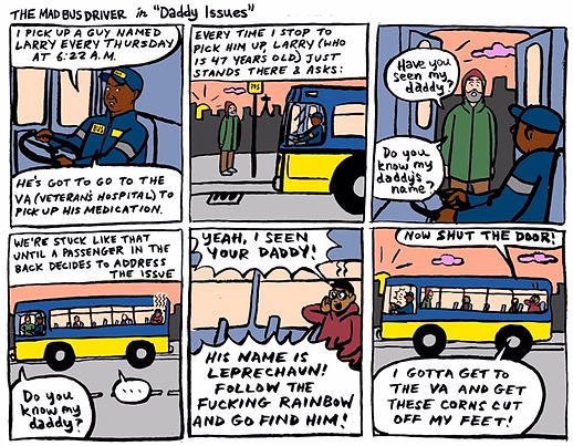 the mad bus driver comic strip number 1.