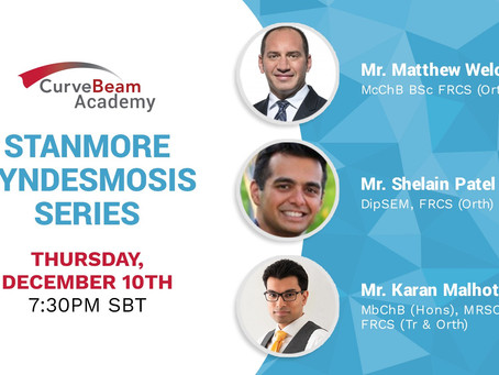 Webinar: CurveBeam Academy presents Stanmore Syndesmosis Series
