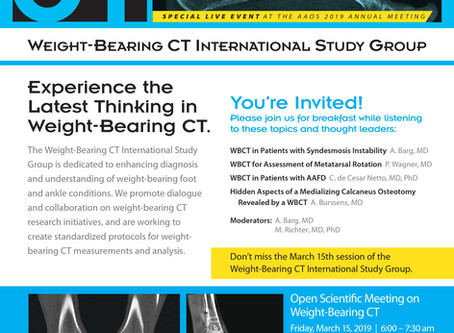 Don't Forget to RSVP for WBCT ISG Open Scientific Meeting at AAOS 2019!