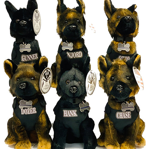 Stuffed K9 Pups