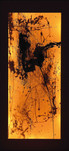 Series » Amber 2 (with the Lighting) « 2003, Lithography on Japanese Paper, Wooden Box and Miniature Lightbulbs, 113 x 52 x 6.5 cm, Unique