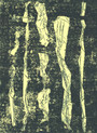» gelbes Gähnen « 2013, Radierung und Überrollung auf Büttenpapier, 75 x 53 cm, Aufl. 4