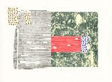 » ohne Titel « 2012, Lithographie und Linolschnitt auf Büttenpapier, 56 x 76 cm, Aufl. 4