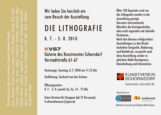 DIE LITHOGRAFIE / KV 67 Galerie des Kunstvereins Schorndorf