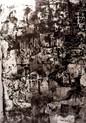 » Into The Trance « 2000, Siebdruck und Tusche auf Büttenpapier, 85 x 65 cm, Unikat