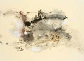 Serie » Acid Face 12 « 2002, Monotypie auf Büttenpapier, 28 x 38 cm, Unikat