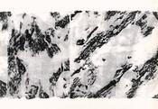 Serie » Schieferfluß 3 « 2010, Frottage auf Druckpapier, 61 x 82 cm, Unikat