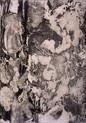 » ohne Titel « 2001, Radierung und Chine Colle (Ganpi) auf Büttenpapier, 55 x 40 cm, Aufl. 4