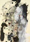 Serie » Acid Face 5 « 2002, Monotypie auf Büttenpapier, 38 x 28 cm, Unikat
