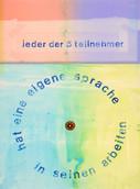 Serie » Ich tanze mit ihm « 2009, Linolschnitt, Monotypie und Stempel auf Druckpapier, 73 x 53 cm, Unikat