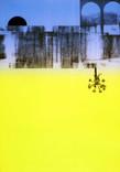 Serie » Ich tanze mit ihm « 2009, Lithographie, Linolschnitt und Nitrodruck auf Druckpapier, 73 x 53 cm, Unikat