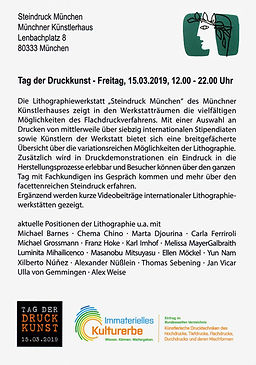TAG DER DRUCKKUNST 2019 / Steindruck München