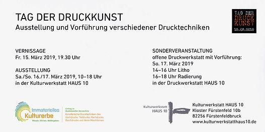 TAG DER DRUCKKUNST 2019 / Kulturwerkstatt HAUS 10