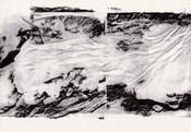Serie » Schieferfluß 2 « 2010, Frottage auf Druckpapier, 61 x 82 cm, Unikat