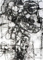 » ohne Titel « 2001, Lithographie und Chine Colle (Ganpi) auf Büttenpapier, 70 x 50 cm, Aufl. 4