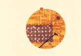 シリーズ » am See (湖デ) 6 « 2015、銅版画、リノカット、マテリアルプリント、手漉き和紙、40 x 60 cm、ユニークプリント