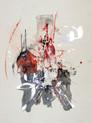 » 向 2 (Die Richtung 2) « 2002, Monotypie auf Büttenpapier, 75 x 56 cm, Unikat