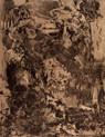 » ohne Titel « 2001, Radierung und Überrollung auf Büttenpapier, 55 x 40 cm, Aufl. 4