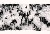 Serie » Schieferfluß 5 « 2010, Frottage auf Druckpapier, 61 x 82 cm, Unikat