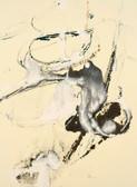 Serie » Acid Face 9 « 2002, Monotypie auf Büttenpapier, 38 x 28 cm, Unikat