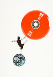 Serie » Ich tanze mit ihm « 2009, Siebdruck, Linolschnitt und Nitrodruck auf Druckpapier, 73 x 53 cm, Unikat