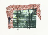 » ohne Titel (Untitled) « 2013, Lithography, Linocut and Material Print on Handmade Paper, 56 x 76 cm, Edition 4
