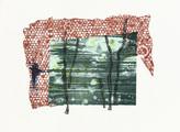 » ohne Titel « 2013, Lithographie, Linolschnitt und Materialdruck auf Büttenpapier, 56 x 76 cm, Aufl. 4