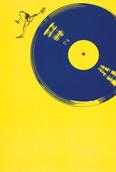 Serie » Ich tanze mit ihm « 2009, Lithographie, Siebdruck, Linolschnitt und Nitrodruck auf Druckpapier, 73 x 53 cm, Unikat