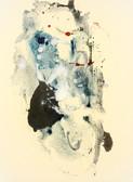 Serie » Acid Face 1 « 2002, Monotypie auf Büttenpapier, 38 x 28 cm, Unikat