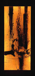 シリーズ » Amber (琥珀) 1 « 2003、リトグラフ、和紙、木材、豆電球、113 x 52 x 6.5 cm