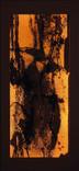 シリーズ » Amber (琥珀) 7 « 2003、リトグラフ、和紙、木材、豆電球、113 x 52 x 6.5 cm