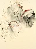 Serie » Acid Face 7 « 2002, Monotypie auf Büttenpapier, 38 x 28 cm, Unikat
