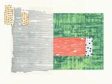 » in der Sonne 1 « 2013, Radierung und Linolschnitt auf Büttenpapier, 40 x 60 cm, Aufl. 4