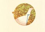 シリーズ » am See (湖デ) 3 « 2015、銅版画、リノカット、マテリアルプリント、手漉き和紙、40 x 60 cm、ユニークプリント