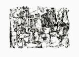 » 跡 (Traces) « 2000, Screen Print on Handmade Paper, 50 x 75 cm, Edition 4