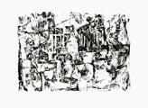 » 跡  (Die Spuren) « 2000, Siebdruck auf Büttenpapier, 50 x 75 cm, Aufl. 4