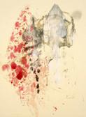 Serie » Acid Face 6 « 2002, Monotypie auf Büttenpapier, 38 x 28 cm, Unikat