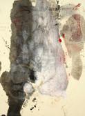 Serie » Acid Face 10 « 2002, Monotypie auf Büttenpapier, 38 x 28 cm, Unikat