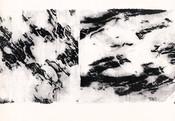 Serie » Schieferfluß 1 « 2010, Frottage auf Druckpapier, 61 x 82 cm, Unikat